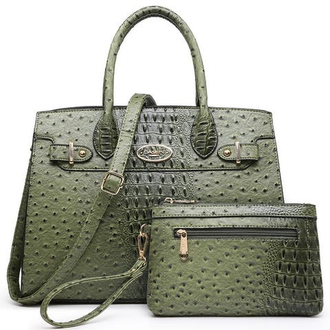 Dasein Women Handbags and Purses Satchel Bag with Matching Clutch