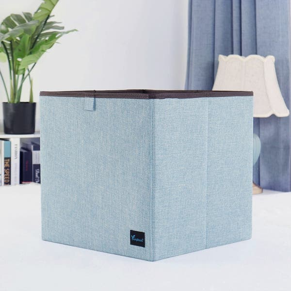 Cubby Organizers Foldable Storage Cube Basket Bin Cloth Baskets for Shelves