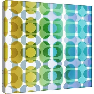 """PTM Images 9-101069  PTM Canvas Collection 12"""" x 12"""" - """"Transitions B"""" Giclee Abstract Art Print on Canvas"""
