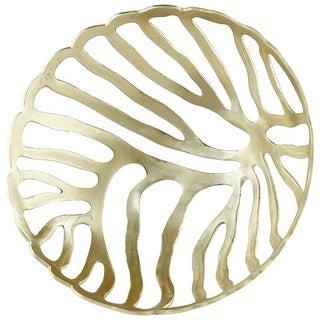 "Cyan Design 08918  Halcyon 17-3/4"" Diameter Aluminum Decorative Bowl - Gold"