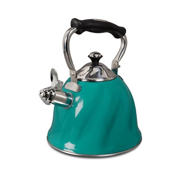 Mr. Coffee Alderton Turquoise Whistling Tea Kettle