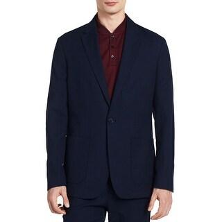 Calvin Klein NEW Navy Blue Men's Size XL One Button Cadet Blazer