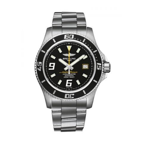 Breitling Men's A1739102-BA78-162A 'Superocean 44' Stainless Steel Watch - Black
