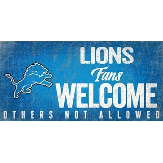 Link to Detroit Lions Wood Sign Fans Welcome 12x6 Similar Items in Fan Shop