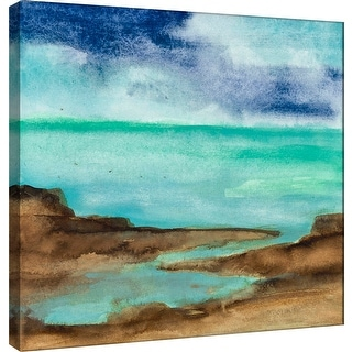"PTM Images 9-100979  PTM Canvas Collection 12"" x 12"" - ""Shore VII"" Giclee Coastlines Art Print on Canvas"