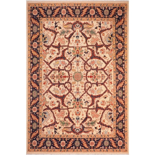 """Boho Chic Ziegler Gayle Hand Knotted Area Rug -8'3"""" x 9'1"""" - 8 ft. 3 in. X 9 ft. 1 in.. Opens flyout."""