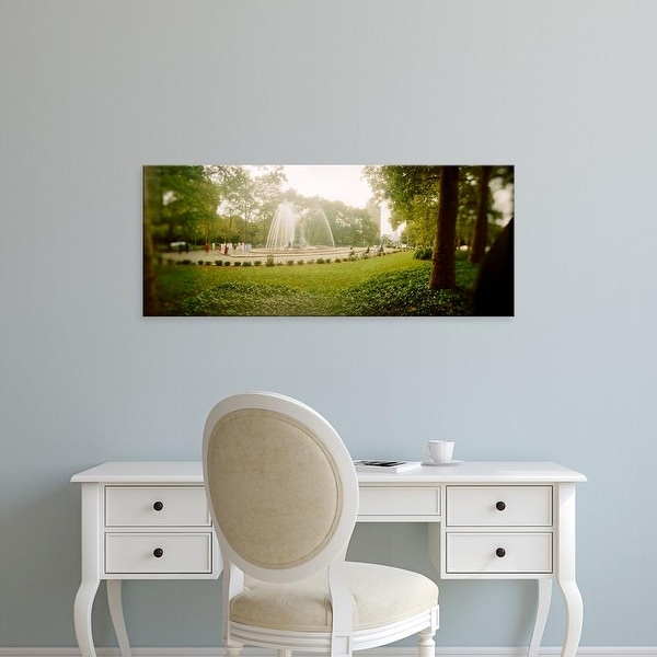 Easy Art Prints Panoramic Image 'Fountain in a park, Prospect Park, Brooklyn, New York City, New York State' Canvas Art