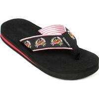 Tidewater Sandals Women's Maryland Crab Flip Flop Red/Black/Yellow/White
