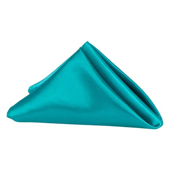 """10 Pieces, Satin Napkin 20""""x20"""" square Edge: Hemmed Material: 100% Polyester - Dark Turquoise"""