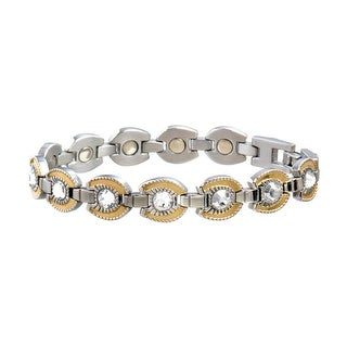 Sabona Jewelry Womens Bracelet Stainless Horseshoe Silver Gold 216