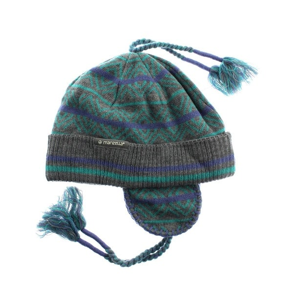 Manzella Womens Hamlin Winter Hat Wool Blend Trapper - o/s