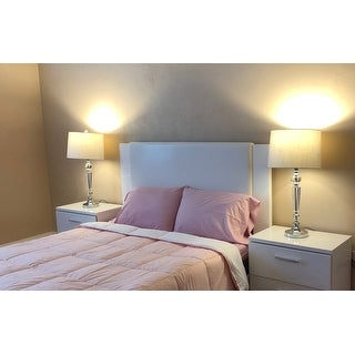 """Emma 29.5"""" Crystal LED Table Lamp, Clear (Set of 2) by JONATHAN Y"""