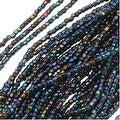 Czech Tri-Cut Seed Beads Size 12/0 - Opaque Iris Navy Blue (1 Strand/360 Beads) - Thumbnail 0