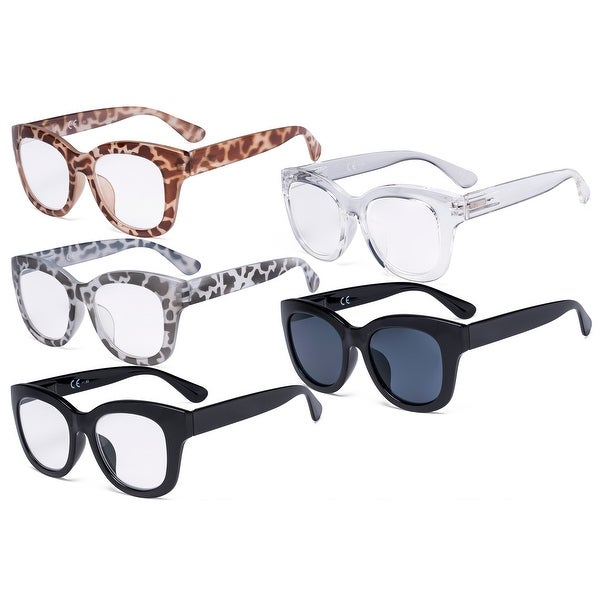 Eyekepper 5 Pack Oversized Eyewear Reading Glasses Retro Readers. Opens flyout.