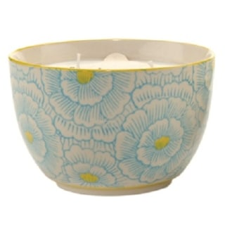 Paddywax Green Jasmine and Bamboo Soy Wax Scented Candle in Hand Painted Bowl 12.5 oz