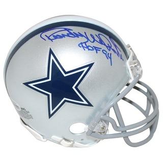 Randy White AutographedSigned Dallas Cowboys Mini Helmet HOF BAS