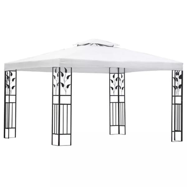 vidaXL Gazebo White Patio Outdoor Marquee Party Wedding Tent Canopy Shade