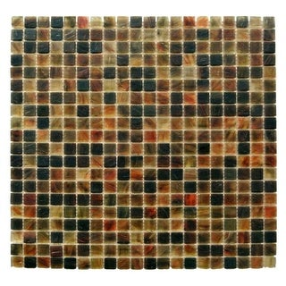 "Miseno MT-SIENNA5/8SQ Sienna - 5/8"" X 5/8"" - Glass Visual - Wall Tile (Sold by Sheet) - N/A"