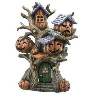"""12"""" Pumpkins Tree House - Orange"""