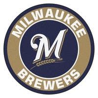 MLB Milwaukee Brewers Rounded Non-Skid Mat Area Rug