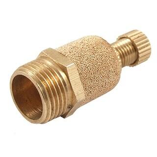 Unique Bargains 16mm Male Thread Brass Pneumatic Sound Eliminator Muffler
