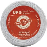 Upg 22-gauge 2-conductor Alarm White Cable 500ft Coil Pack (solid)