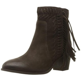 Mia Womens Elina Ankle Boots Fringe Heels