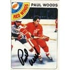 Paul Woods Detroit Red Wings 1978 Opee Chee Autographed Card  Rookie Card  This item comes with a certificate of auth
