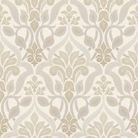 Brewster 2535-20644 Fusion Grey Ombre Damask Wallpaper - N/A