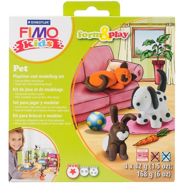 Fimo Kids Form & Play Kit-Pet