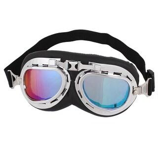 Full Frame Adjustable Strap Colorful Lens Ski Motorcycle Goggles Wind Glasses