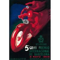 Barcelona Spain 5 Gran Premio - Vintage Ad (Art Print - Multiple Sizes)