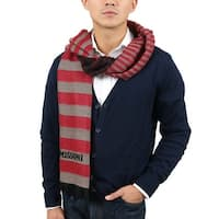 Missoni SC12WMU5078 0005 Red/Taupe Wool Blend  Scarf - 14.75 - 71