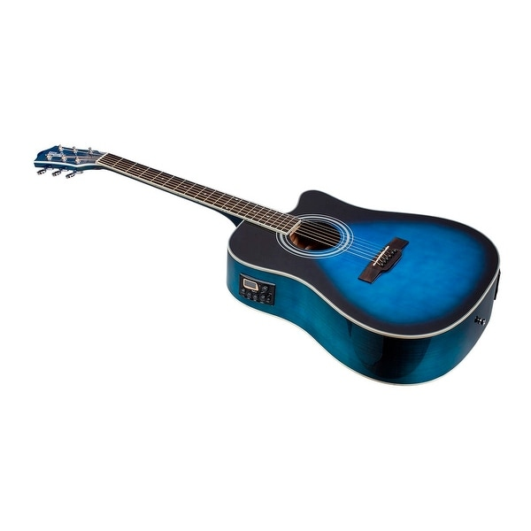 shop monoprice idyllwild foothill acoustic electric guitar with tuner pickup and gig bag blue. Black Bedroom Furniture Sets. Home Design Ideas