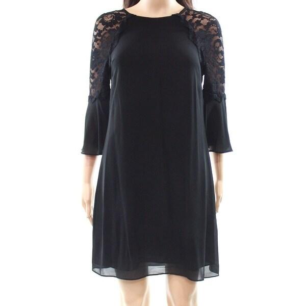 5ea9f584eee Shop Belle Badgley Mischka Women s Lace Shift Dress - On Sale - Free ...