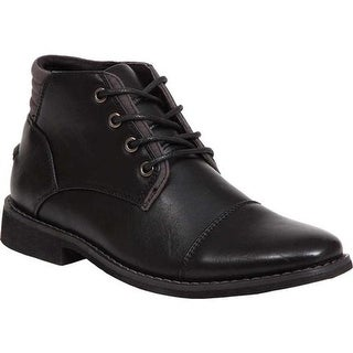 Deer Stags Boys' Hamlin Ankle Boot Black/Black Simulated Leather