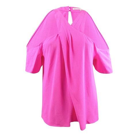 Rachel Rachel Roy Women's Plus Size Twist-Front Top - Neon Pink