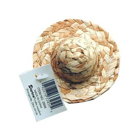 "Darice Straw Hat Rnd Crown 3"""