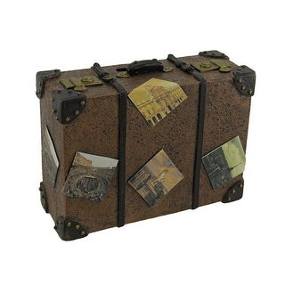 Well Traveled Vintage Suitcase Coin Bank - 5 X 6.5 X 2.5 inches