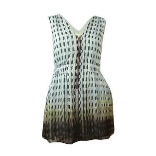 Rachel Roy Women's Sleeveless Zipper Front Printed Dress - xL
