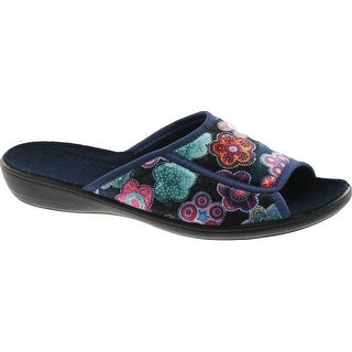 Sc Home Collection Womens 160 Open Toe Low Wedge Flower Print House Slippers Made In Europe