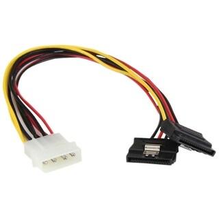StarTech PYO2LP4LSATA StarTech.com 12in LP4 to 2x Latching SATA Power Y Cable Splitter Adapter - 4 Pin Molex to Dual SATA
