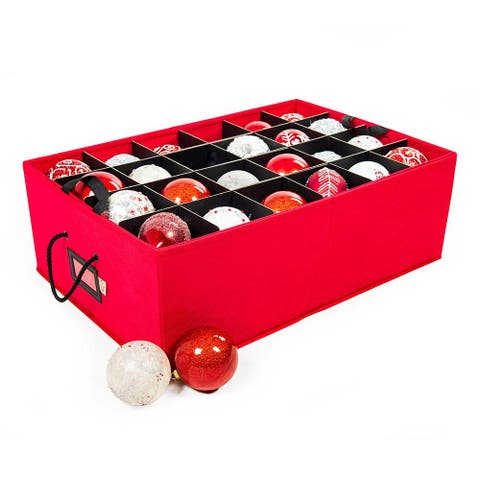 Santa's Bags Two Tray 4 in. Ornament Storage - RED