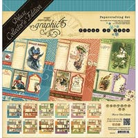 "Graphic 45 Deluxe Collector's Edition Pack 12""X12""-Place In Time - Undated Calender Designs"
