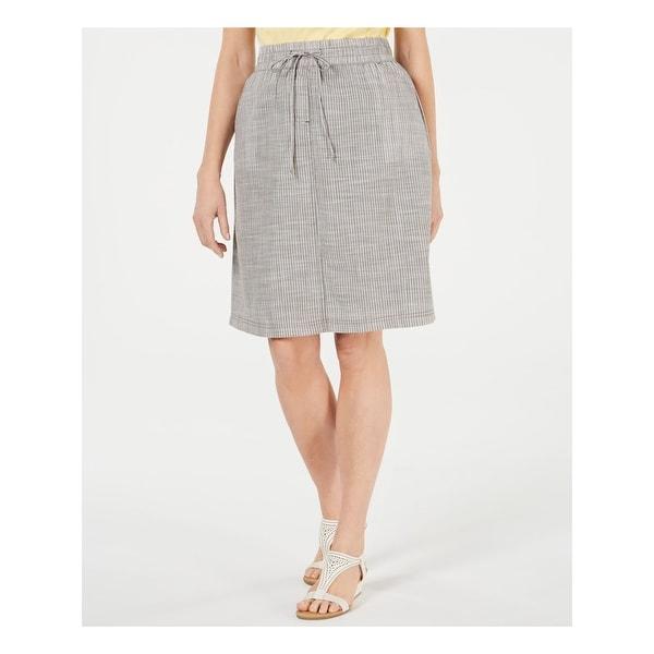 KAREN SCOTT Womens Green Striped Knee Length A-Line Skort Size XL. Opens flyout.
