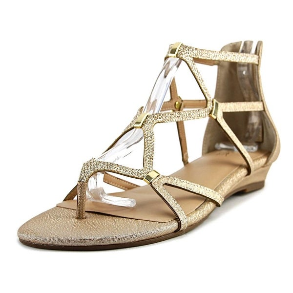 Thalia Sodi Pamela Women Gold Metallic Sandals