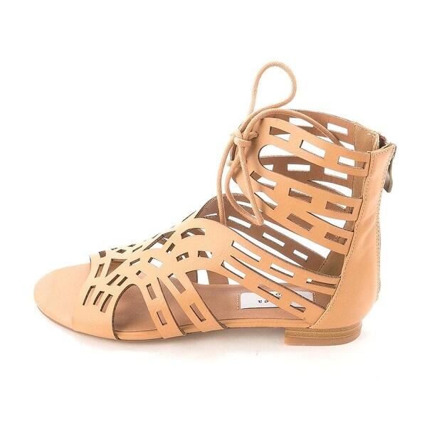 Chelsea & Zoe Women's Cierra Lace Up Flat Sandals
