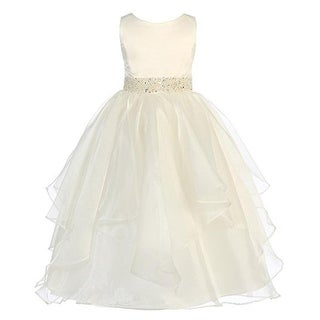Chic Baby Girls Organza Special Occasion Dress - 12