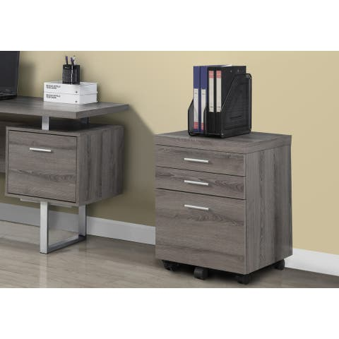 Monarch 7049 Dark Taupe On Castors With Three Drawer Filing Cabinet