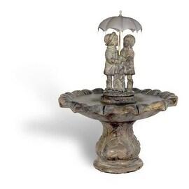 Figurine Cast Stone Summer Showers Fountain Finish: Relic Lava